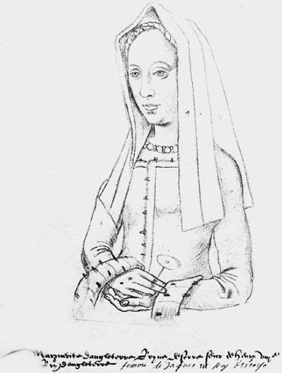 Sketch of Margaret Tudor, Henry VIII's older sister. She married into the Scottish royal family