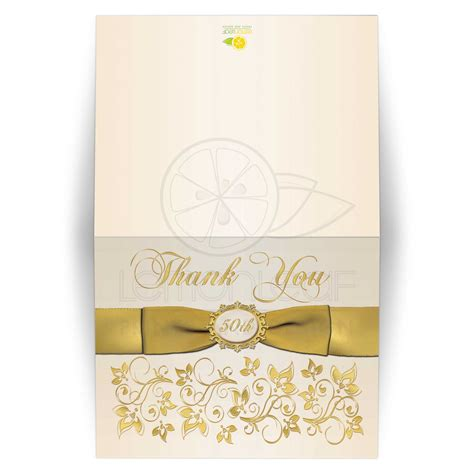card  wedding anniversary ivory gold