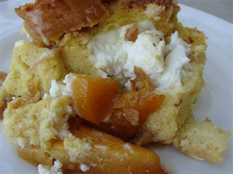 Peaches Cream French Toast Casserole Dish
