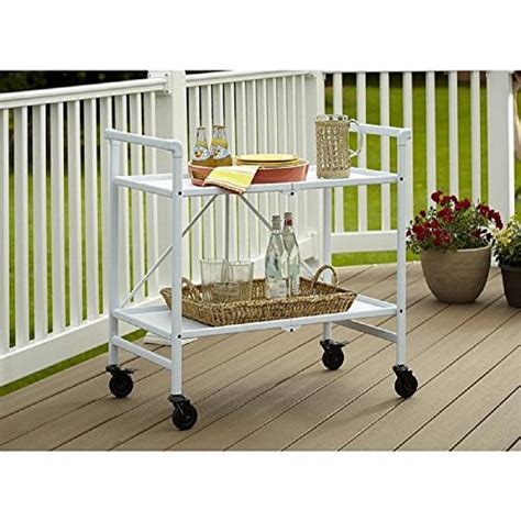 outdoor kitchen storage cart bar serving cart outdoor folding rolling wheels portable serving cart for dining room trolley 3873