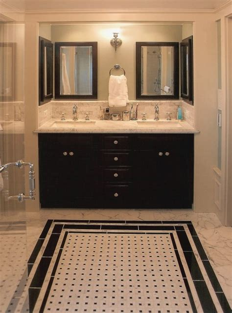 Master Bath Rug Ideas by 27 Small Black And White Bathroom Floor Tiles Ideas And
