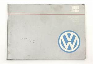 1989 Volkswagen Vw Jetta Owners Manual Book Mk2