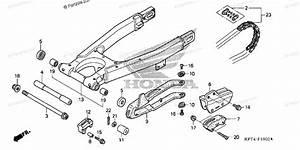 Honda Motorcycle 2003 Oem Parts Diagram For Swingarm