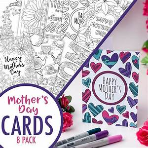 Mother's Day Coloring Cards | 8 Pack - Sarah Renae Clark ...