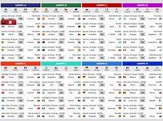 Calendario mundial de fútbol 2014 Calendario mundial