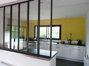 Verrière Intérieure Ikea : une d co contemporaine la cuisine avec verri re mi ~ Melissatoandfro.com Idées de Décoration