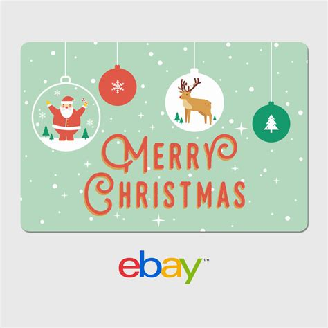 ebay digital gift card holiday designs email delivery