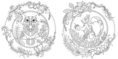 enchanted forest  inky quest coloring book ohfriday