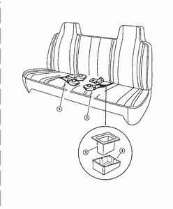 1999 Dodge Ram 1500 Lap Belt  Seat Belt  Two Buckles  Used