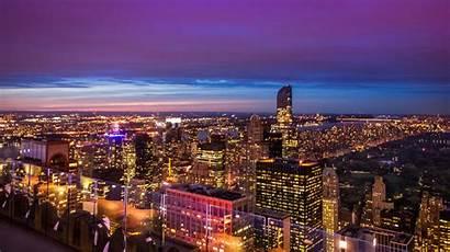Night Central Park Cityscape Urban Skyline