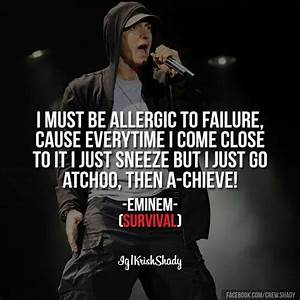 This is survival of the fittest... | Eminem! | Pinterest ...
