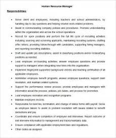 Hr Manager Description For Resume by Human Resource Management Description 7 The Various Operative Functions Of Hrm Are