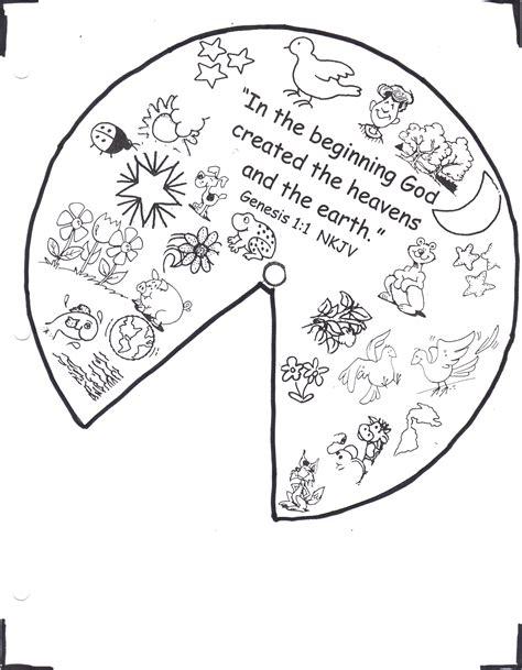 Printable Creation Wheel Bible