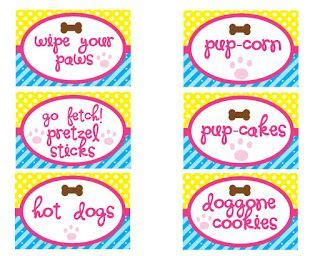 puppy party printables banner invites  yous