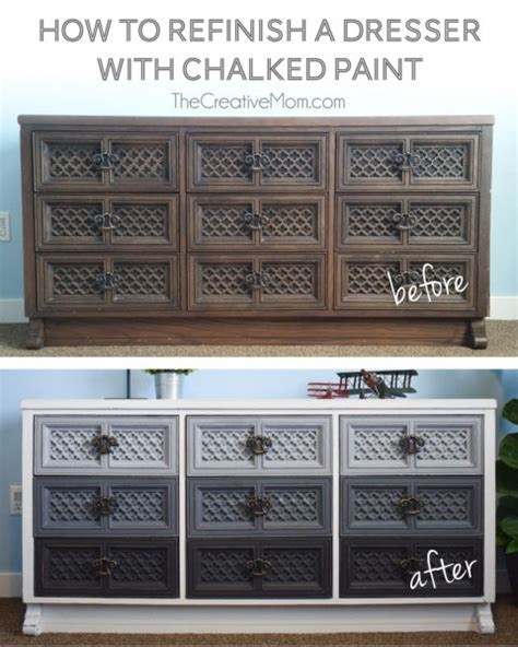 how to refinish a dresser with paint how to refinish a dresser with chalked paint the creative mom