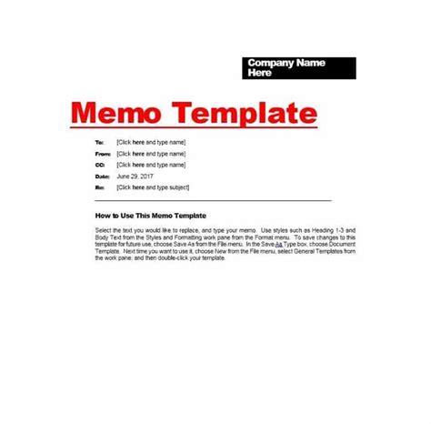 Memo Template by Memo Template