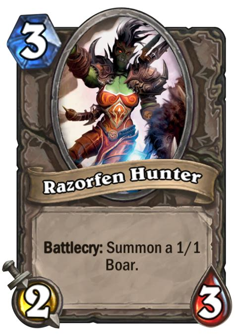 razorfen hunter hearthstone card