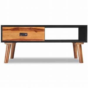 vidaxl solid acacia wood coffee table 90x50x40 cm vidaxl With solid acacia wood coffee table
