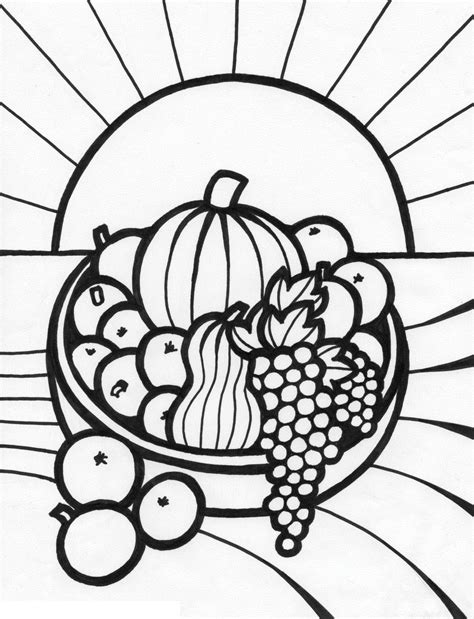 fruit  vegetables drawings clipart panda