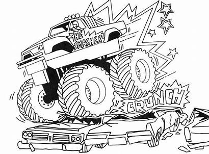 Coloring Monster Truck Pages Printable