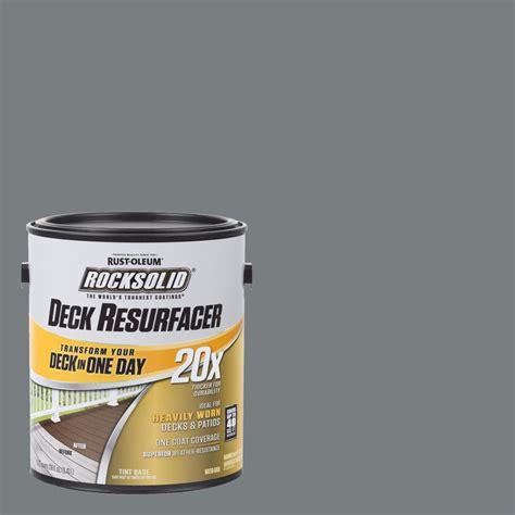 rust oleum rocksolid  gal gray exterior  deck