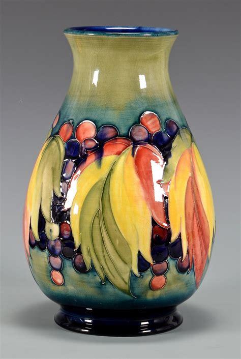 lot   pcs moorcroft pottery vase bowl