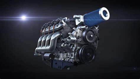 Animation Of Working V8 Engine Inside. Slowmotion