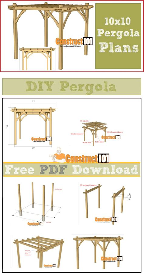 10x10 freestanding deck plans 25 best ideas about pergola plans on pergolas