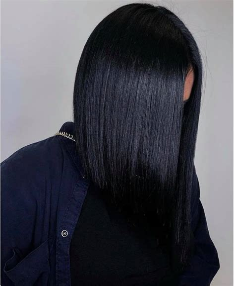 Inky Black Hair by Inky Black Hair Color Trend For 2019