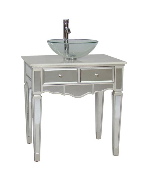 30 Inch Bathroom Vanity With Sink by Adelina 30 Inch Mirrored Vessel Sink Bathroom Vanity