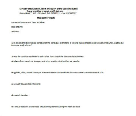 27 doctor certificate templates pdf doc free
