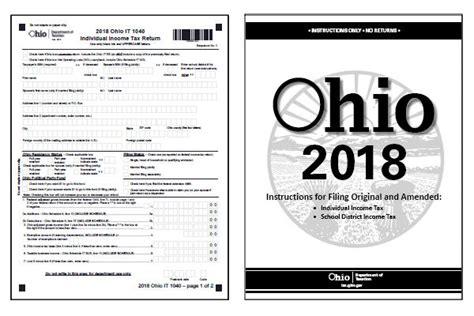 ohio tax forms 2018 printable state ohio it 1040 form