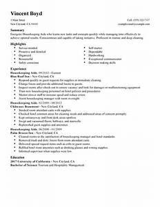 12 free housekeeping resume sample samplebusinessresume With sample housekeeper resume employment
