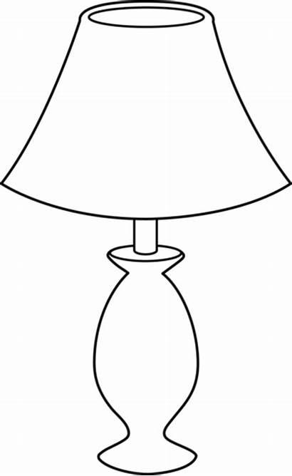 Lamp Clipart Bulb Clip Lantern Line Transparent