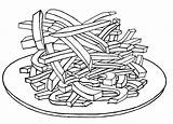 Fries French Coloring Pages Drawing Colouring Printable Foods Getdrawings Getcolorings Colorin sketch template