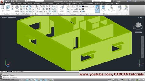 3d Home Design Tutorial Pdf by Autocad 3d House Modeling Tutorial Beginner Basic 1