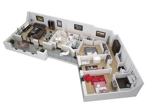 plan maison moderne 5 chambres plan dune maison en 3d avec 5 chambre maison moderne