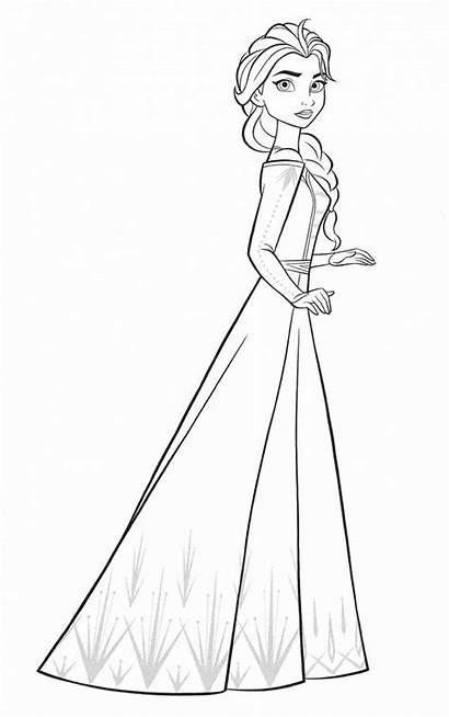 Elsa Frozen Coloring Pages Unknown Into Colouring