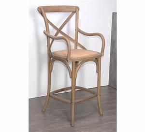 Chaise De Bar Grise : chaise de bar en ch ne gris bistrot 4966 ~ Voncanada.com Idées de Décoration