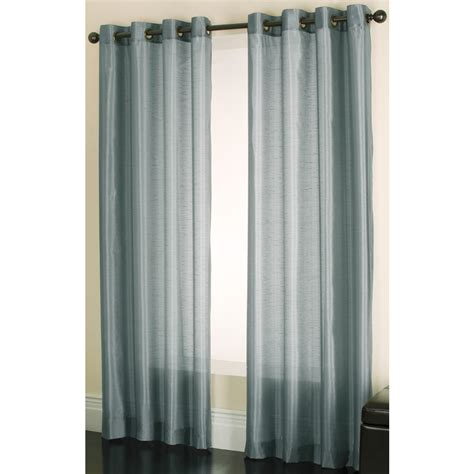 Allen Roth Curtains Blue by Shop Allen Roth Edistone 63 In Blue Polyester Grommet