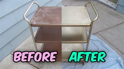 refinish  vintage metal cosco tea cart bar cart