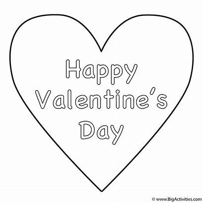 Coloring Happy Pages Valentines Valentine Heart Simple