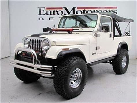 tan jeep lifted buy used white tan cj8 manual stick shift rock crawler