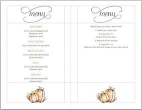 thanksgiving menu template thanksgiving menu templates free