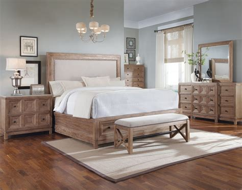 ventura rustic contemporary bedroom furniture set