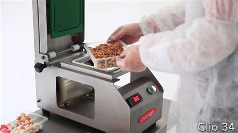 manual tray sealing machine clio  food youtube