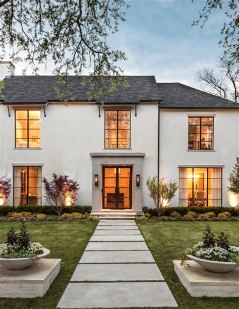 French Country Modern Exterior Inspiration  Remington Avenue