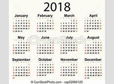 Calendário, 2018, ano Ilustração, fundo, 2018, ano, novo