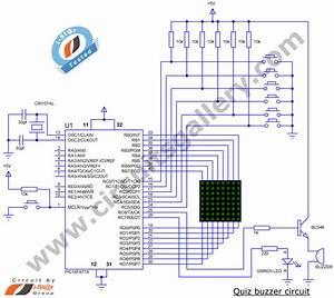 Electronic Quiz Buzzer Circuit Diagram Using Pic