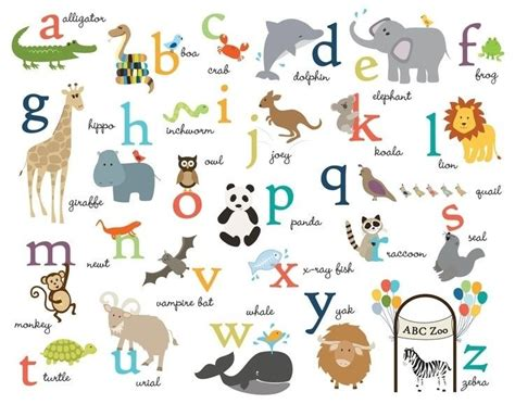 animals that start with the letter a animals starting with the letter n letters font 29229